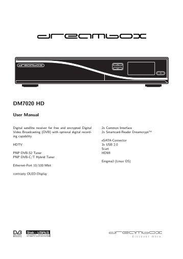 Dreambox Dm800 user manual