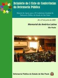 Monitoramento I Ciclo de Conferências - Defensoria - Governo do ...