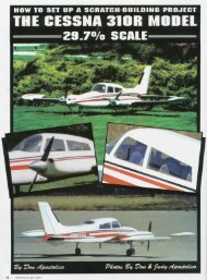 The Cessna 310R Part III - RCM Plans