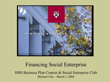 Financing SE 1 Mar 04 - Harvard Business School