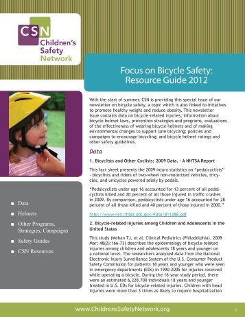 Focus on Bicycle Safety: Resource Guide 2012 - Florida Department ...