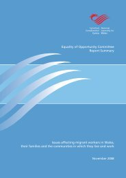 Summary Report: Issues affecting migrant workers in Wales, their ...