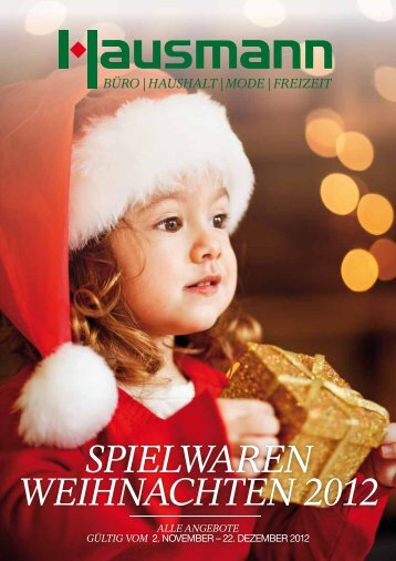 SPIELWAREN WEIHNACHTEN 2012 - Hausmann
