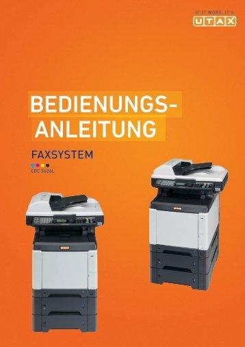 ANLEITUNG BEDIENUNGS- - Utax
