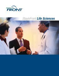 StayinFront Life Sciences - StayinFront, Inc.