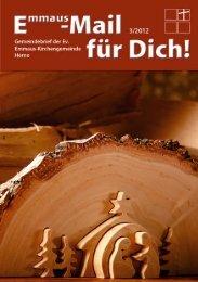 Gemeindebrief 3/2012 - Ev. Emmaus-Kirchengemeinde Herne