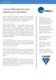 F-Secure Messaging Security Gateway for Corporations - C-MI Labs