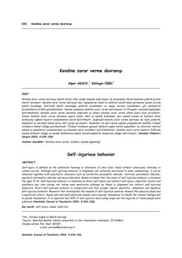a research on self injurious behavior on patients Self-injury/cutting innovations in patient care, research and one's self-injuring behavior but reducing the risk of self-injury includes strategies.