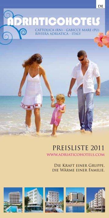 PREISLISTE 2011 - Adriatico Hotels