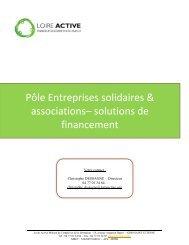 Pôle Entreprises solidaires & associations ... - Loire Solidaires