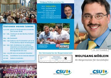 Wolfgang Mößlein - Wolfgang-Moesslein.de