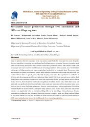 Sustainable maize production through seed inoculation and different tillage regimes