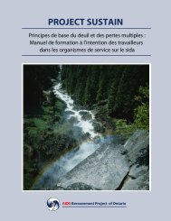 Principes de base du deuil et des pertes - CATIE