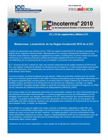 Masterclass: Lanzamiento de las Reglas Incoterms ... - ICC México
