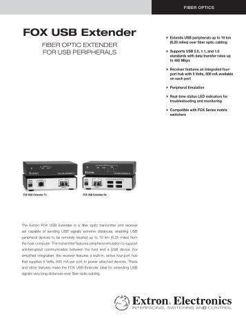 FOX USB Extender - Extron Electronics