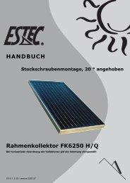 Montageanleitung Prestige Stockschraube 20 - Gerenda Solar