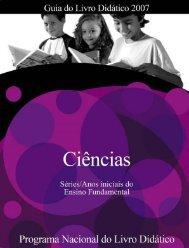 Ciências: Séries Iniciais do Ensino Fundamental - PNLD/2007