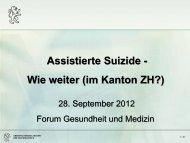 (im Kanton Zürich)? - Forum Gesundheit und Medizin