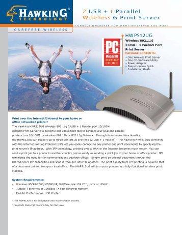 2 USB + 1 Parallel Wireless G Print Server - Barcode Discount