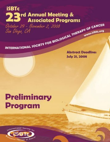 23rd Annual Meeting - Society for Immunotherapy of Cancer