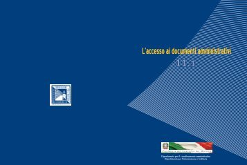 Supplemento 11.1 - Commissione per l'accesso ai documenti ...