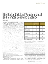 Collateral Valuation Model and Borrowing Capacity - Federal Home ...