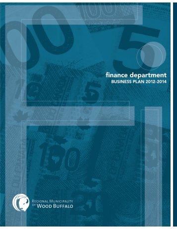 finance department - Regional Municipality of Wood Buffalo