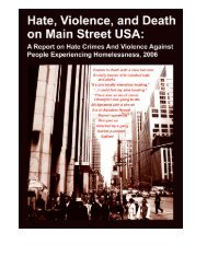 hate, violence, and death on main street usa - National Coalition for ...