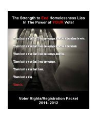 The Strength to End Homelessness Lies In The Power of YOUR Vote!