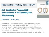 Responsible Jewellery Council (RJC)