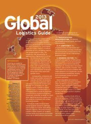 Inbound Logistics | 2013 Global Logistics Guide | Digital Edition