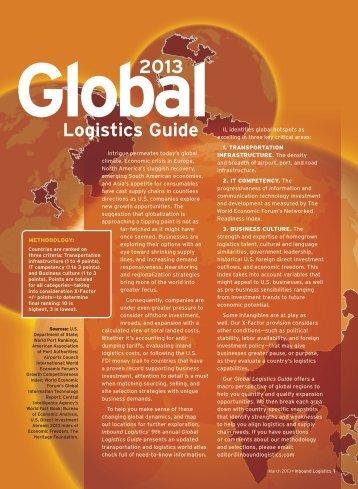 Inbound Logistics | 2013 Global Logistics Guide | Digital Edition