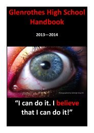 Glenrothes High School Handbook 2013—2014 - Home Page