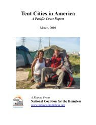 Tent Cities in America - National Coalition for the Homeless