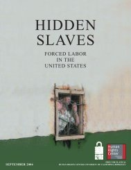 Hidden Slaves: Forced Labor in the United States - Berkeley Law