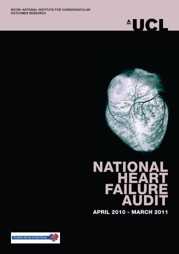 NATIONAL HEART FAILURE AUDIT - University College London