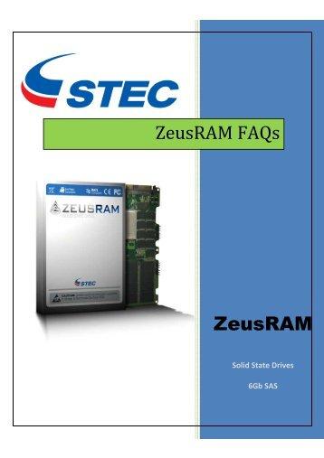 STEC ZeusRAM FAQs - sTec, Inc