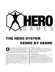 The HERO System Genre by Genre - Hero Games Company