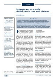 Management of erectile dysfunction in men with diabetes