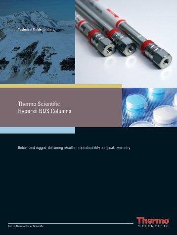 Thermo Scientific Hypersil BDS Columns - Chromatopak