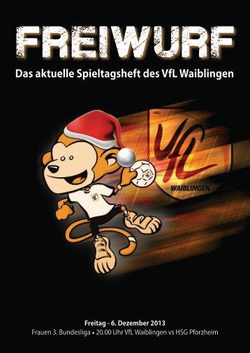 Freiwurf 06.12.2013 Frauen - VfL Waiblingen