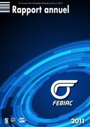 Rapport annuel 2011 - Febiac