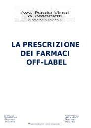 LA PRESCRIZIONE DEI FARMACI OFF-LABEL - Assimedici