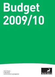 Key Issues for 2009/10 - Hertfordshire County Council