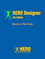 Hero Designer 6th Edition - Hero Games Company