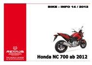 REMUS NEWS 14 Honda NC 700 ab 2012