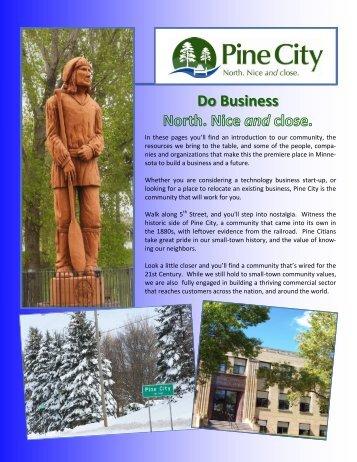 Pine City Economic Development Brochure - GovOffice.com