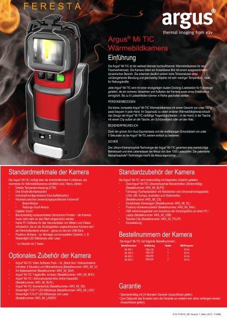 Technisches Datenblatt der ARGUS Mi-TIC - FERESTA GmbH