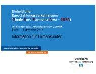 zur Präsentation - Volksbank Herrenberg-Rottenburg