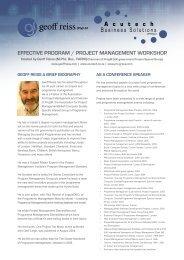 geoff reiss 1 day workshop.pdf - CRS Turnaround Management